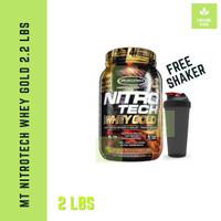 Muscletech Nitrotech Whey gold 2,2lbs 2,2 lbs 2lbs 2 lb Protein bpom
