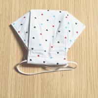 masker kain 3 ply earloop dewasa - polkawhite