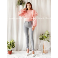 Melisa Sparkle Long Sleeve Knit / Rajut Top Import TM 0833
