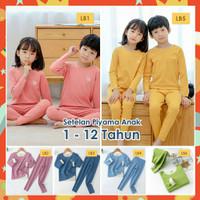 Piyama Setelan Anak Laki Perempuan Import Baju Tidur Stretch Usia 1-12