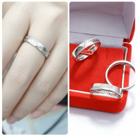 Cincin perak 925 lapis emas putih cincin cewek perak 925 cincin simple