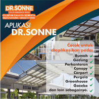 Spandek Transparan / Dr.Sonne (XT-1000) / Atap Polycarbonate (6 meter)