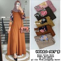Baju Setelan Wanita Muslim Celana dan Longtunik Verro Set 3