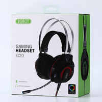 ROBOT GAMING wired headset RH-G20 black with 7 colour led light