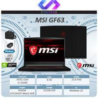 Laptop MSI GF63 GTX1650Ti MaxQ 4GB i5 10200 8GB 512ssd 15.6FHD W10 ORI