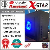 Komputer PC Rakitan Core i5-650/HD 500GB/H55/DDR3 8GB/PSU 500W [B8]