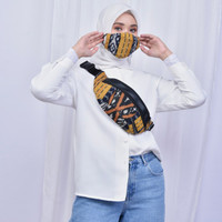 Waist Bag Unisex + Masker Tenun Ikat Dakara Indonesia