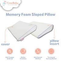 CREA BABY Memory Foam Sloped Pillow I Bantal Anti Gumoh I Bantal Bayi