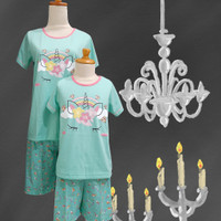 Baju Tidur Anak Anne Claire (Uni rainbow) St. Lgn pdk Cln Pdk