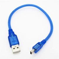KABEL DATA MINI USB FOR ARDUINO NANO V3 BIRU 30 CM CABLE DATA