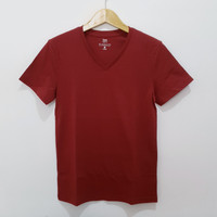 Size L-LD96 Unisex GIORDANO ORIGINAL Kaos V-Neck Cowo Cewe Baju Pendek