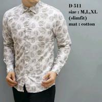 Baju Kemeja Batik Casual Slimfit OF56 Original ODZA - Hem Casual