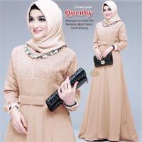 Baju Gamis Muslim Wanita syari Terbaru Gamis Quenby
