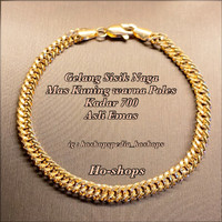Gelang Sisik Naga ( SN ) Mas Kuning Warna Poles Kadar 700 Asli Emas