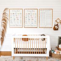 Poster Edukasi Anak Belajar Menulis - Writing Chart Nursery Wall Art