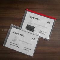 Map Plastik / Zipper Bag A4 / Tempat Pensil