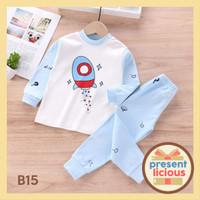 Piyama Bayi Lucu Impor / Piyama Bayi / Baju Tidur Bayi & Anak Impor - B15, Umur 6-12 Bulan