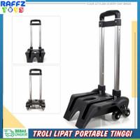Troli Lipat Portable Trolley Koper Tas Barang Trolly Travel Roda 3