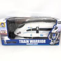 Mainan anak RC train transformer / kereta polisi robot