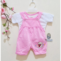 0026 Pink - Setelan murah baju bayi perempuan 0-6 bulan model Kodok