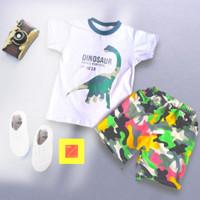 pakaian anak /setelan anak / baju anak motif DINO ARMY usia 1-5 tahun - 2