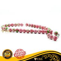Tasbih Batu Akik Pirus Pink Nevada Asli Original