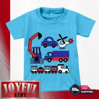 Baju Anak Laki-laki / Kaos Anak Laki-laki TRACTOR BIRU 1 - 10 Tahun