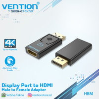 Vention HBK Converter DisplayPort DP To HDMI Female Macbook Windows - HBM 4K30Hz