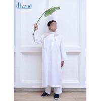 Baju Koko Anak / Jubah / Gamis Anak Laki-Laki D'Izzud Motif 5-15 Tahun - Putih, 4