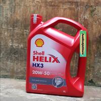 Oli Mobil Diessel & Bensin Shell HELIX HX3 20W-50 4Liter Original