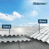 ATAP UPVC ALDERON RS EF 784cm. GELOMBANG BULAT ROMA PUTIH DOFF