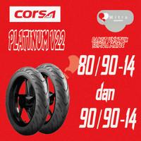 BAN LUAR CORSA PAKET MATIC 80/90-14 DAN 90/90-14 PLATINUM V22 TUBELESS