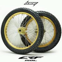 ban set honda crf gold series ring 18 21 modif semi trail supermoto