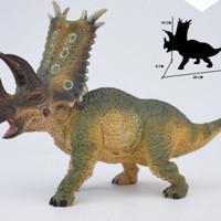 Mainan anak dinosaurus karet hard rubber animal - Triceratops