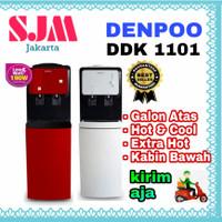 DISPENSER GALON ATAS DENPOO DDK 1101 ( RED-WHITE ) TANGKI STANLESS