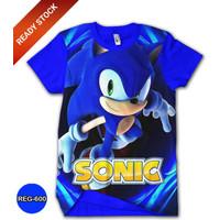 Kaos Sonic The Hedgehog Series Baju Sonic Keren dan Trendy #REG-600