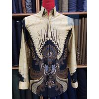 Baju Batik Pria Lengan Panjang lapis press bahan Sutra Halus