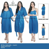 seserahan hantaran pernikahan kado setelan baju tidur wanita Sexy biru