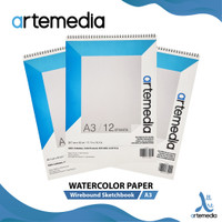 Kertas Cat Air Artemedia Watercolor Book A3 Wire Bound Sketchbook
