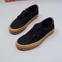 sepatu vans authentic hitam sol cokelat ukuran 36 - 44
