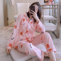 Piyama Baju Tidur Wanita Import PP Fashion Lengan Celana Panjang 7507