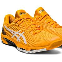 Sepatu Tenis Asics Solution Speed FF2 AmberWhite Tennis Original Asli