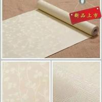 wallpaper stiker dinding cream polos
