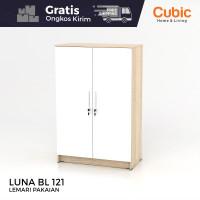 Cubic Lemari Kecil Minimalis / Almari Pakaian 2 Pintu / LUNA BL 121