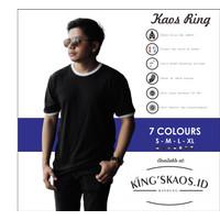 Kaos Polos Motif Ring Bahan Katun Bambu Premium UNISEX - S