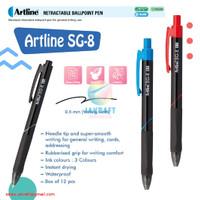 Pulpen Bolpen Pen Klik Permanen ARTLINE SG-8 Permanent Ballpoint 0.5mm