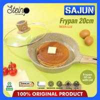 STEIN Cookware Granite DIAMOND Series FRY PAN 20/24 Cm with lid - 20 cm