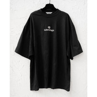 BALENCIAGA Sponsor logo oversized tshirt black Original 100%