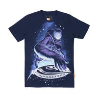 T-shirt - Bahan Katun - Thinkcookcook - Astro Dj - GITD - Biru Dongker