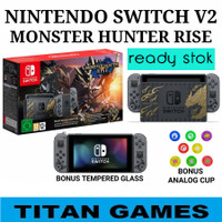 Nintendo Switch Console Monster Hunter Rise Edition New Model Version - JAPAN